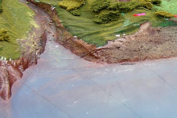 modello plastico foce marina