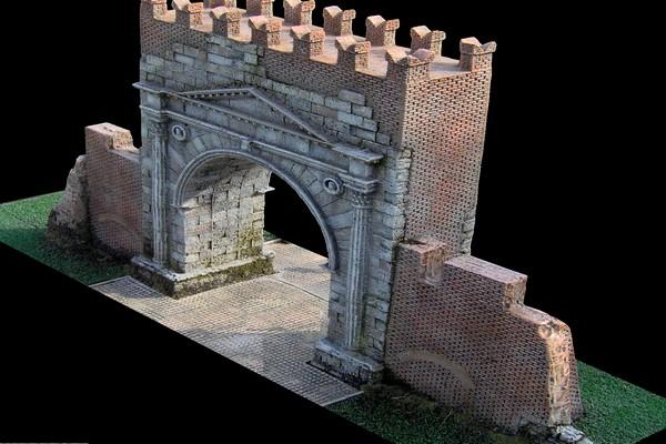 modello plastico architettura medievale