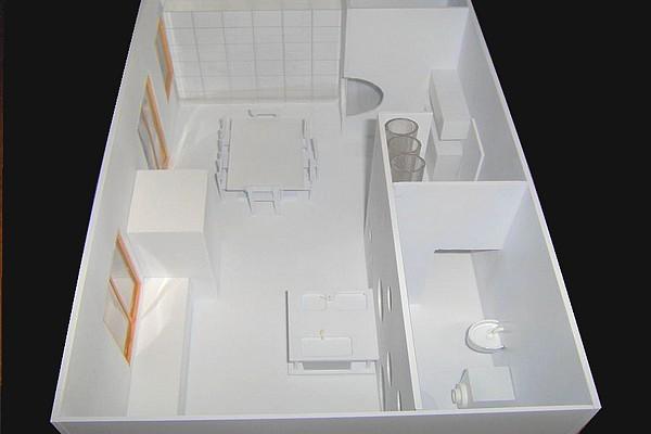 modello plastico arredo appartamento