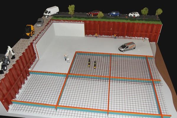 modello plastico cantiere edile