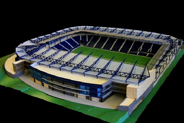 modello plastico impianto sportivo