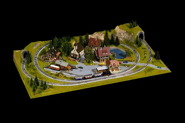 modello plastico ferroviario 87