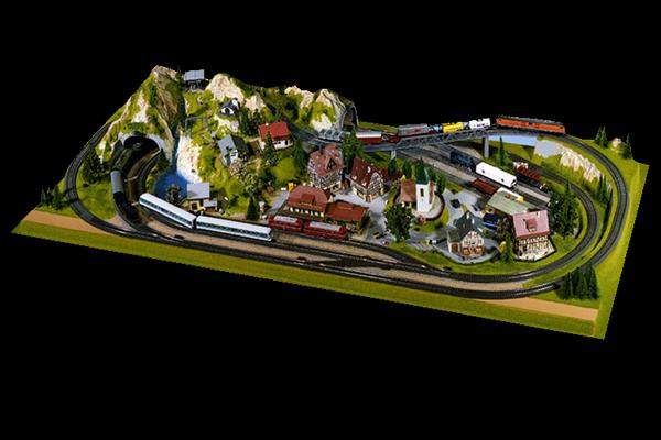 modello plastico ferroviario scala H0