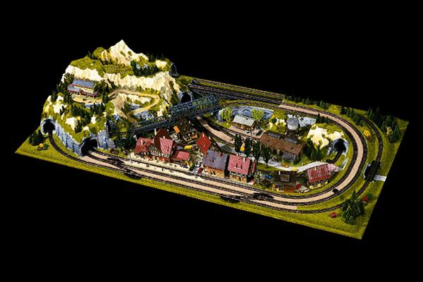 modello plastico ferroviario