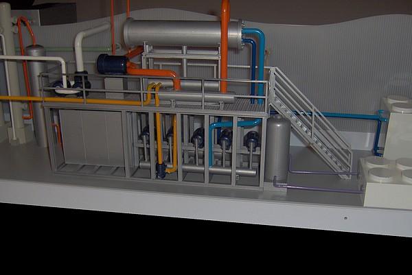 modello plastico impianto filtro
