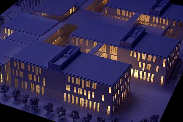 modello plastico volumetrico illuminazione interna