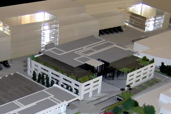 modello plastico illuminazione plexiglass