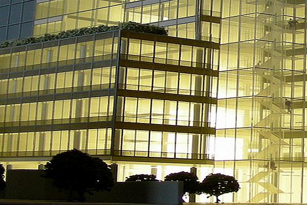 modello plastico illuminazione edificio architettonico