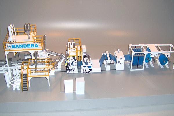 modello plastico impianto linea industriale