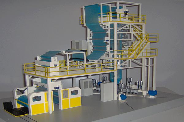 modello plastico linee industriali