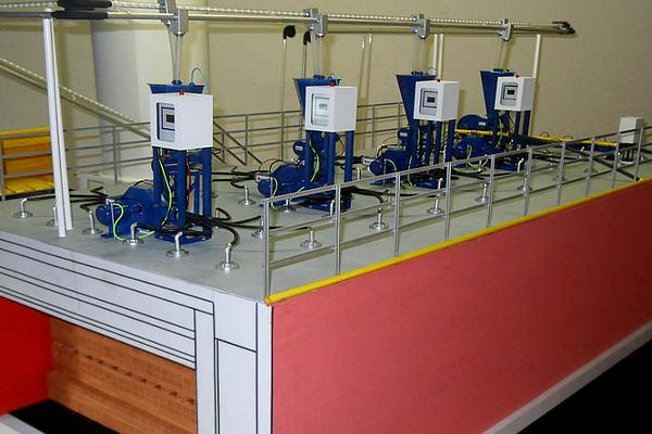 modello plastico impianto linea bruciatori