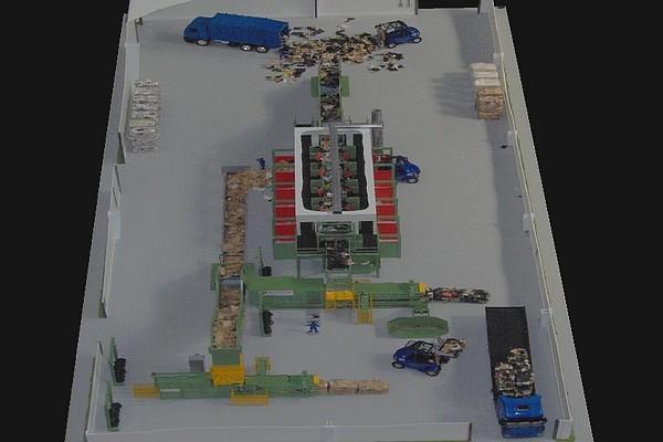 modello plastico impianto linea selezione rifiuti