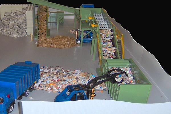 modello plastico impianto linea trattamento rifiuti