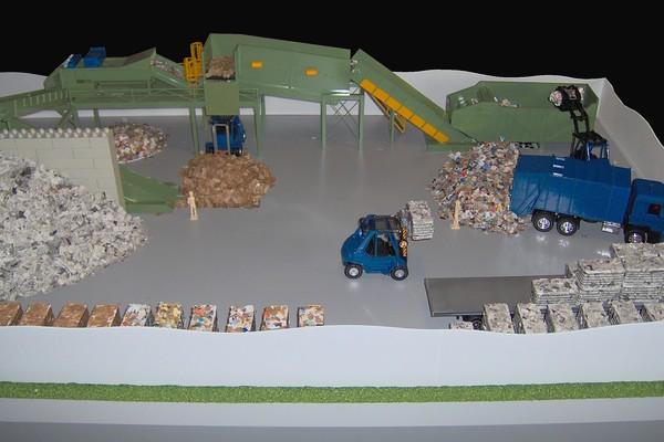 modello plastico impianto trattamento carta