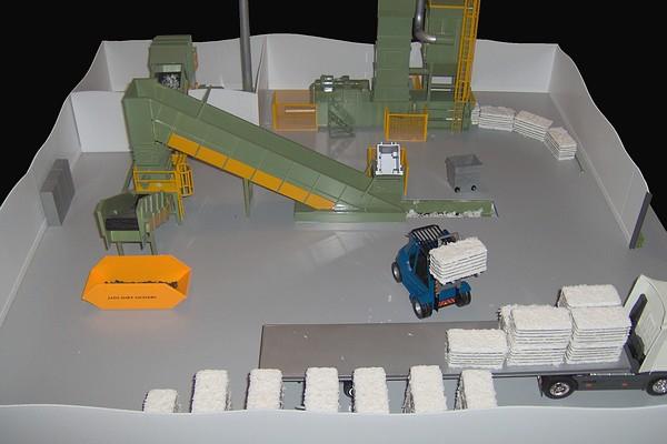 modello plastico impianto trattamento documenti