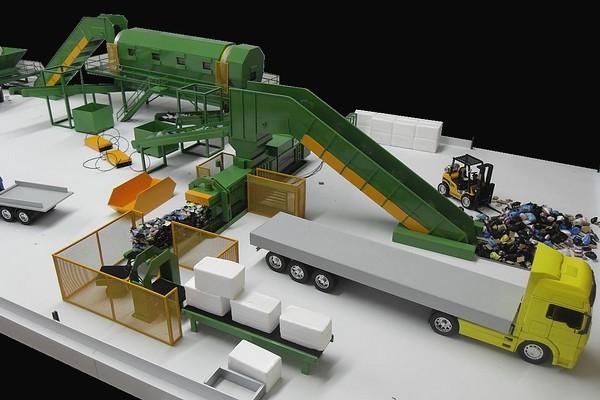 modello plastico impianto trattamento e stoccaggio