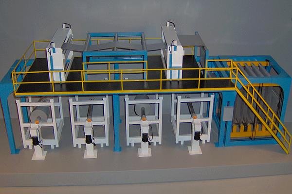 modello plastico linea industriale