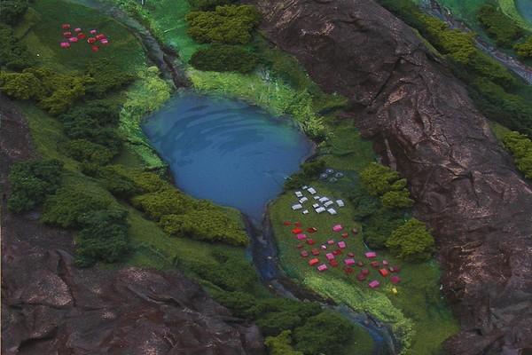 modello plastico lago e fiume