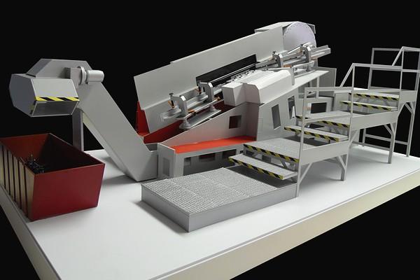 modello plastico macchinario