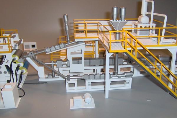modello plastico macchinario estrusore