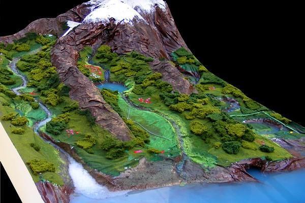 modello plastico movimento acqua fiume