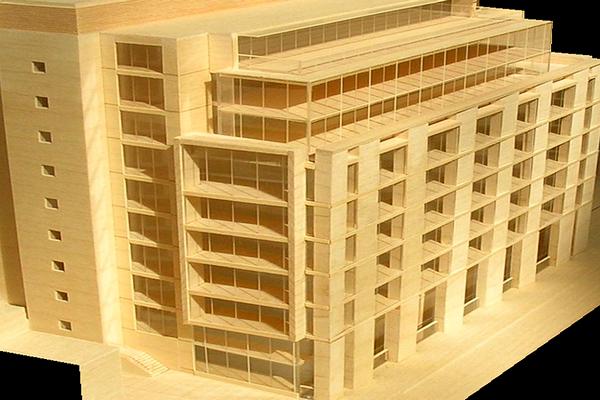 modello plastico museale in legno