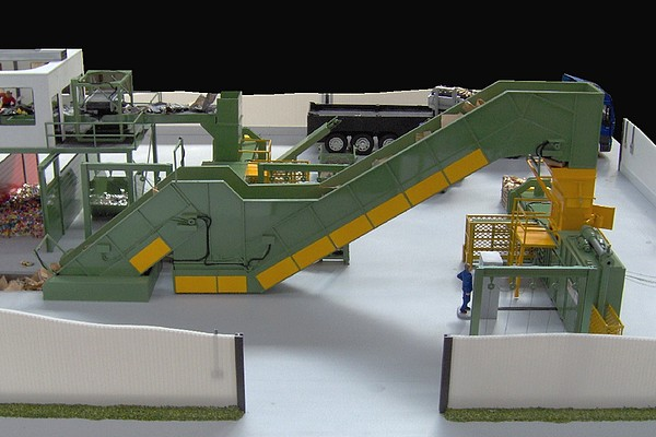 modello plastico nastro trasportatore