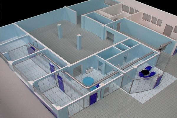 modello plastico perimetria ufficio