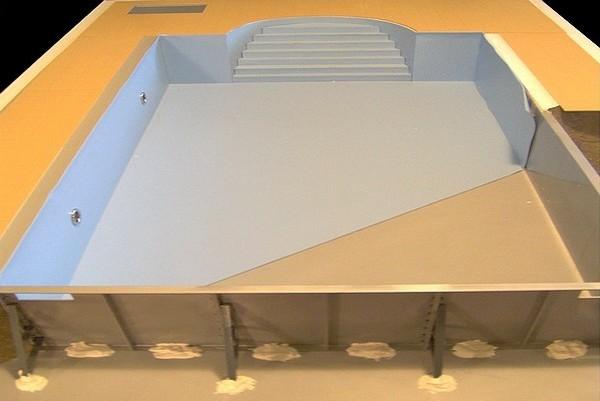 modello plastico piscina