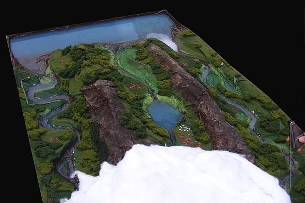 modello plastico scorrimento acqua