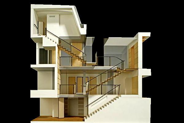 modello plastico sezioni edifici