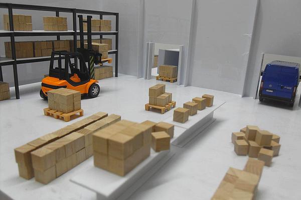 modello plastico sezioni magazzini e depositi