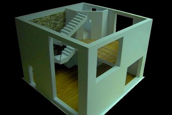 modello plastico sezione residenziale