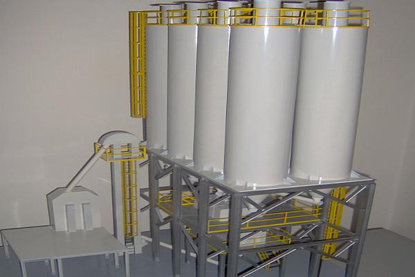 modello plastico silos