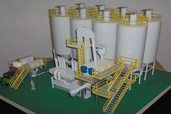 modello plastico silos premiscelatore