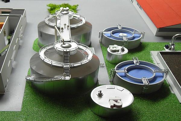modello plastico silos e vasche