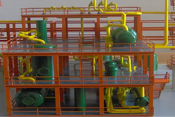 modello plastico struttura impianto