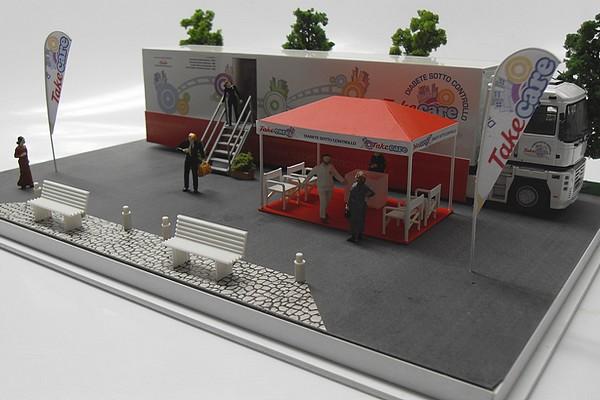 modello plastico struttura mobile esterna