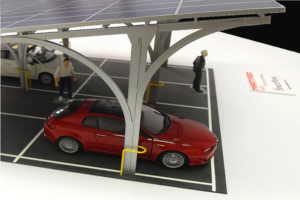 modello plastico struttura parcheggio