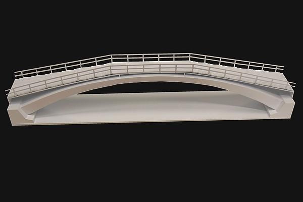modello plastico struttura ponte architettonico