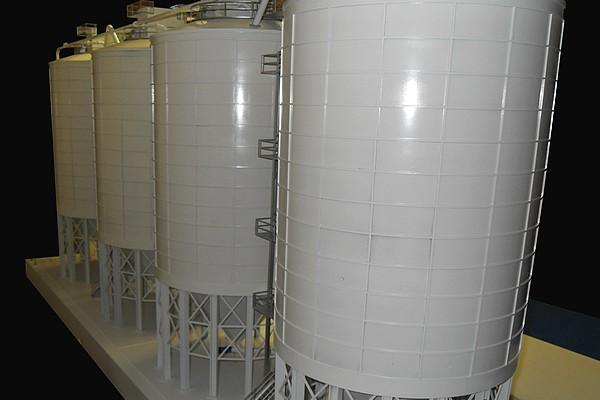 modello plastico struttura silos