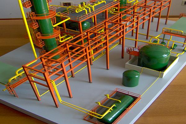 modello plastico struttura tubi e condutture