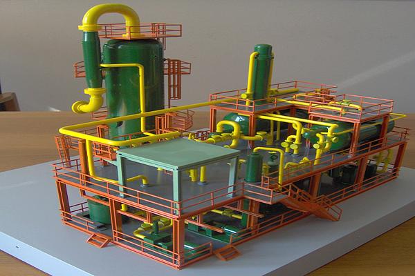 modello plastico tubi e valvole