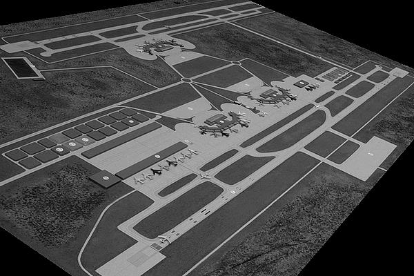 modello plastico aeroporto