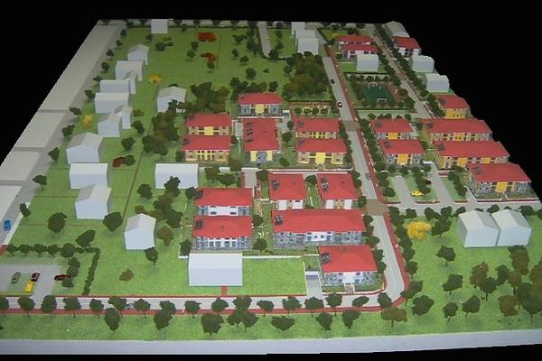 modello plastico complesso residenziale