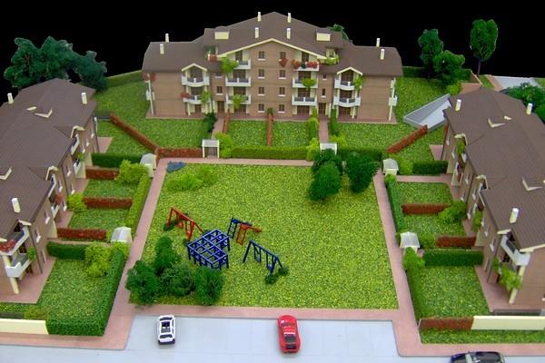 modello plastico edifici residenziali