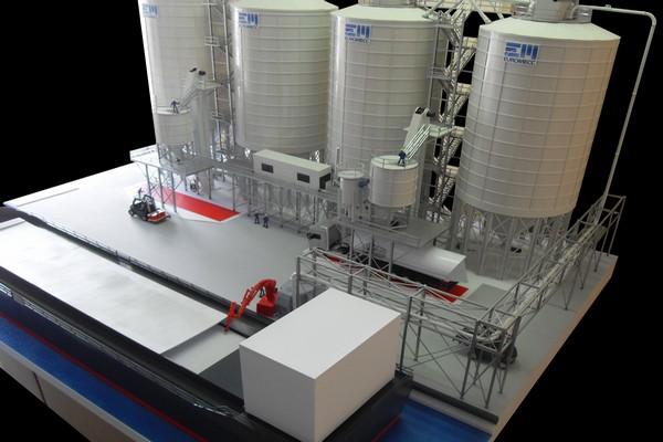 modelli plastici impianti industriali