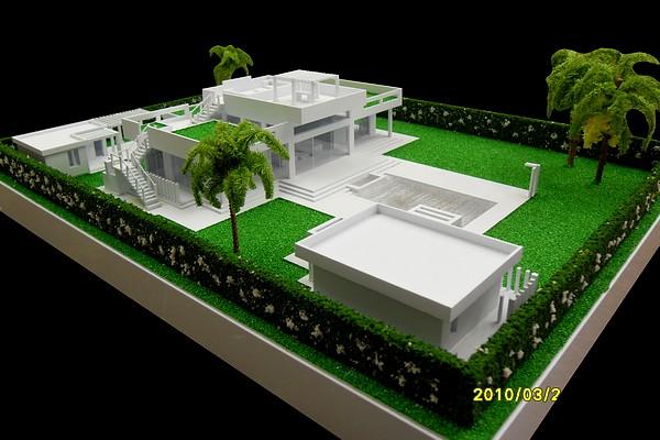 modello plastico villa